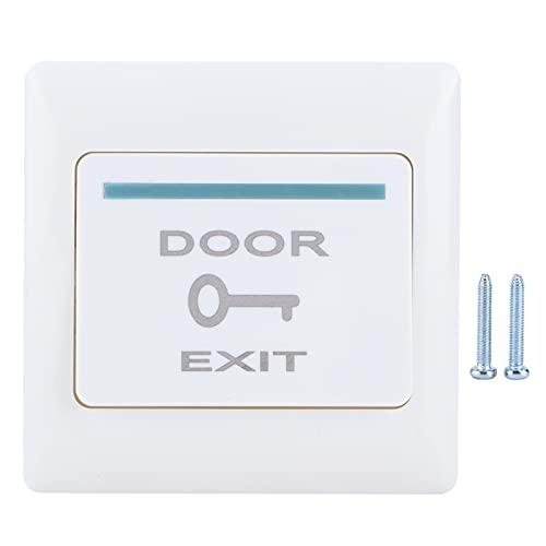 Botón de salida de la puerta Sistema de control de acceso ignífugo tipo 86 para oficinas, comunidades, casas de alquiler, PC Material ignífugo fuerte y duradero, adecuado para oficinas, comunidades y