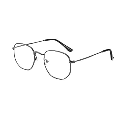 AIKLLY Blue Light Blocking Glasses,Metal Irregu...