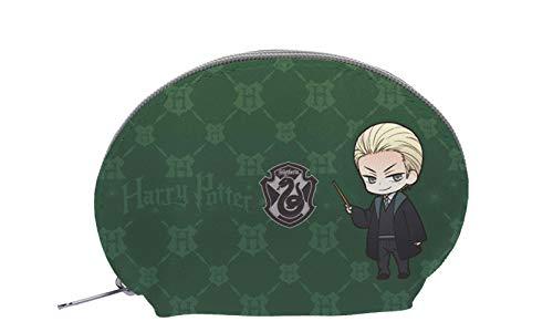 Sd Merchan- Estuche Ovalado Slytherin Dibujos Draco Y Snape Harry Potter (SDTWRN24164)
