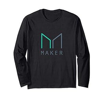 MAKER MKR Crypto Decentralized Finance DeFi Blockchain Coin Long Sleeve T-Shirt