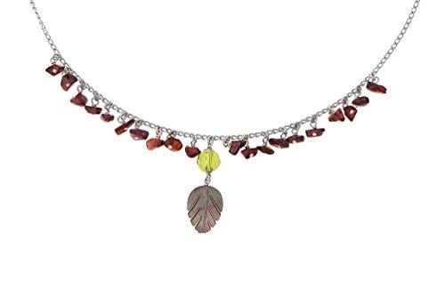 Orphelia Jewelry Damen-Halskette mit Anhnger 925 Sterling Silber natrlichen Elementen 42cm ZK-2587