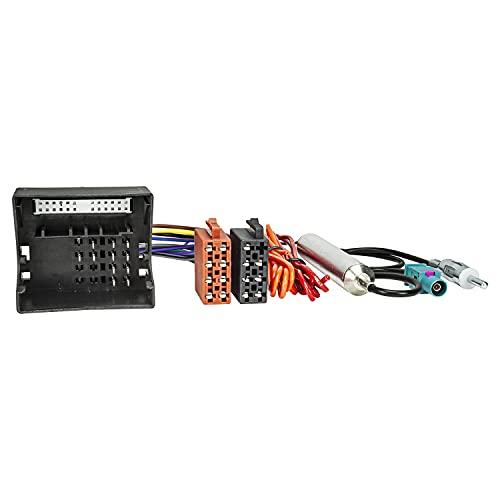 tomzz Audio 7039-001 Radio Adapter Kabel kompatibel mit Opel ab 2003 Quadlock auf ISO + Antennenadapter mit Phantomeinspeisung Fakra auf DIN