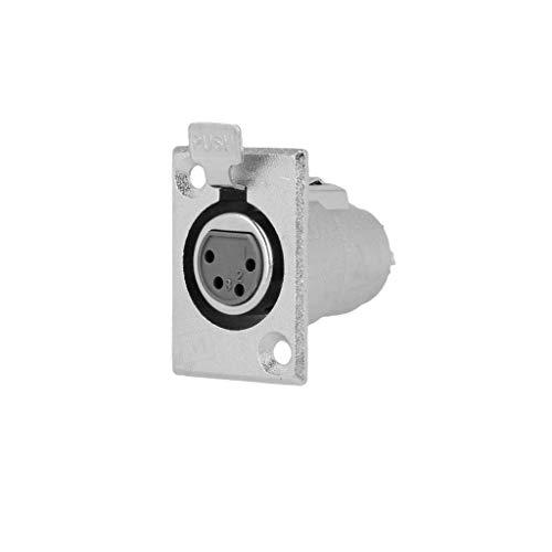 XLR Canon 4pin audio microfoon vrouwelijk stopcontact