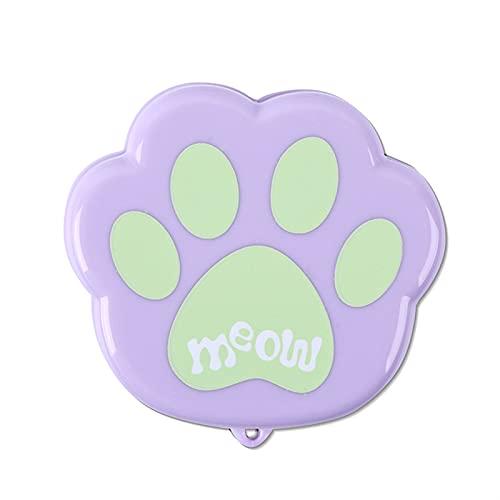 YYDMBH Botella Agua Copa Plegable de Dibujos Animados Creativo Cata de Gato Taza Plegable telescópica Mini portátil al Aire Libre Viaje Taza de consumición Taza de Agua Plegable (Color : Purple)