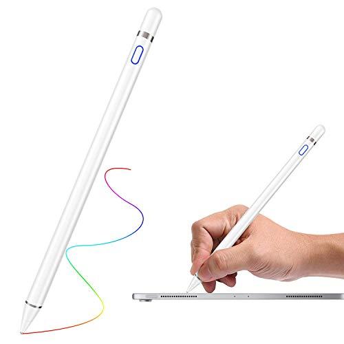 Stylus-Stifte für Touchscreens, universeller kapazitiver wiederaufladbarer 1,5-mm-Touchscreen-Stift mit aktivem Styli-Tipp Kompatibel für iPad, iPhone, Samsung Galxy, Huawei und LG Android-Tablets