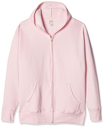 Just My Size Women's Plus-Size EcoSmart Full-Zip Hoodie, Pale Pink, 2X