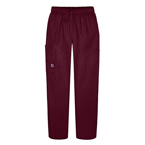 Sivvan Women's Scrubs Drawstring Cargo Trousers - S8200 - Burgundy - M
