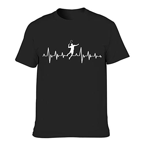Chicici Fashion Camisetas de bádminton corazón pulso para hombres humor sarcasmo desgaste superior
