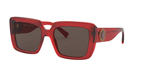 Versace 0VE4384B Occhiali, Red/Brown, 54/19/140 Donna