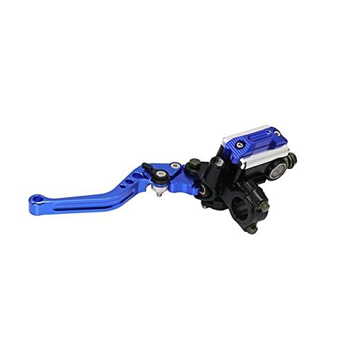 MULANG MULANGSTOR Bomba de Embrague de Freno Cilindro Master Cilindro Palanca Manguilla Manillar Embrague hidráulico 22 mm Ajuste para Yamaha Ajuste para Kawasaki (Color : Blue Left)