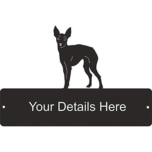 Staal Afbeeldingen Engels Speelgoed Terrier Rechthoekige Poort Plaque
