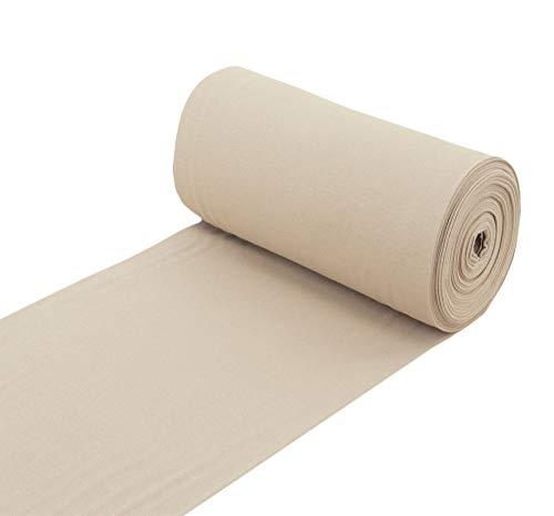 Nadeltraum Baumwolle Bündchenstoff Bündchen Schlauchware Stoff beige - Meterware ab 25 cm x 70 cm