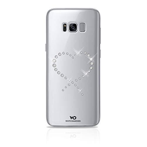 White Diamonds Swarovski Cristal Eternity - Carcasa para Samsung Galaxy S8 Plus, Transparente