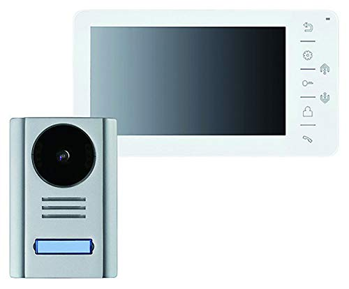 Video-Türsprechanlage mit 7 Zoll Monitor, 4-Draht