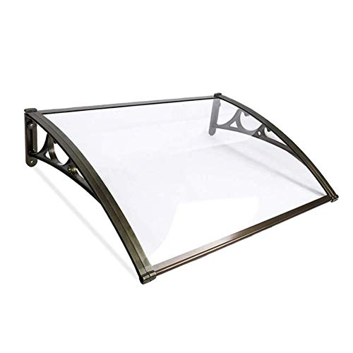Nevy- Marquesina para Puertas Y Ventanas Tejadillo De Protección Toldo Toldo Silencioso Tablero De PC Sólido 6 Tamaños para Terrazas Canop (Color : Clear, Size : 60X60cm)