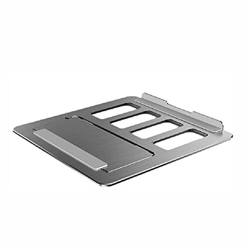 WPBOY Aleación de aluminio portátil enfriador portátil de refrigeración Pad Holder Base creativa Adecuado para 17 pulgadas Notebook (plata)