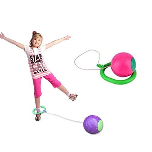 Generisch Twistball Set, Spielbälle Jump Spielzeug Kugel Spielzeug, Kinder Fitness Knöchel Skip Ball Sport Übung Fitnessgeräte für draußen Kinder (Rosa)