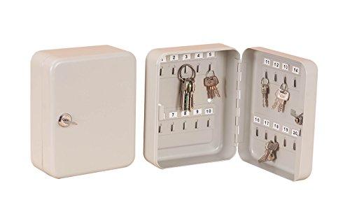 Armario para guardar llaves, caja de seguridad de metal con cerradura, portallaves metálico (20 llaves)