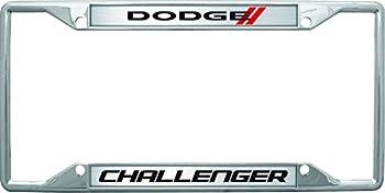 Eurosport Daytona- Compatible with - Dodge Challenger with Stripes License Plate Frame