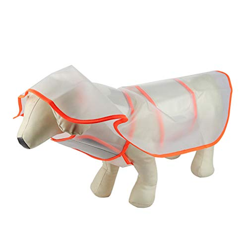 Tsorryen Dog Raincoats for Large Dogs with Reflective Strip Hoodie Rain Poncho Jacket Outdoor Four-Foot Waterproof Snowproof Pet Clothing