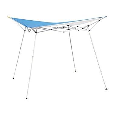 Caravan Canopy EVO08021 8' x 8' Evo Shade Instant Canopy, 10' x 10', Blue Top/White Frame