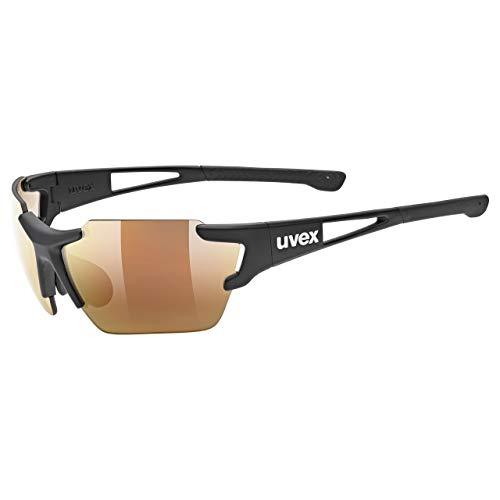 uvex Unisex– Erwachsene, sportstyle 803 race CV V small Sportbrille, kontrastverstärkend, selbsttönend, schmale Passform, black mat/red, one size