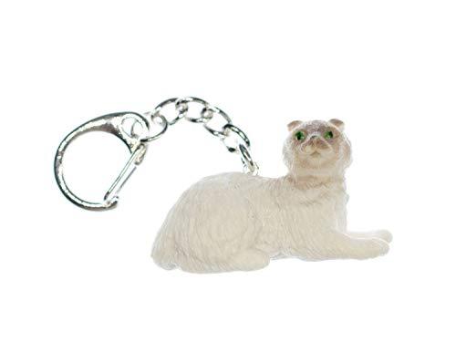 Miniblings Highland Scottish Fold Fold Llavero del Gato del Gato - Hecho a Mano Joyas de Moda I I Colgante Llavero Llavero