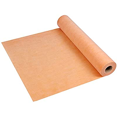 Waterproof Membrane 20 mils 0.51 mm 3.3 ft x 131 ft /430 Sq Ft PE Fabric Tiles for Wall,Waterproofing Membrane for Shower,Bathroom Tile, Uncoupling Membrane for Under Tile Membrane Underlayment