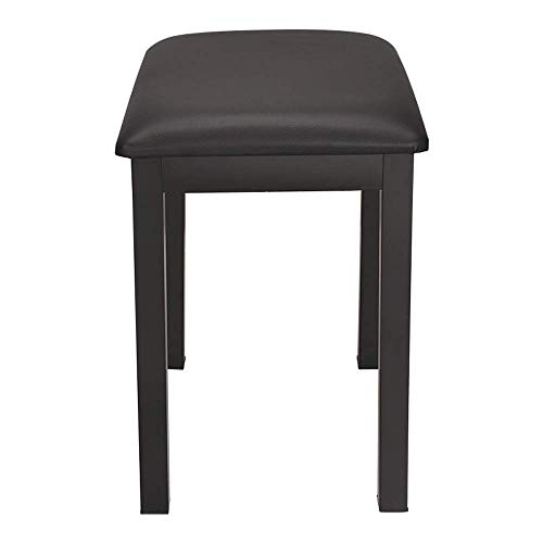 PIVFEDQX Piano Stool 1-Person Piano Keyboard Bench Digital Piano PU Leather Piano Stool Need to Be Assembled Comfortable Seating Experience (Color : Black, Size : 40x30x48cm)