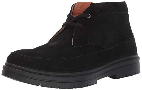 STACY ADAMS Men's Amherst Suede Chukka Boot, Black, 7.5 M US