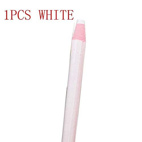 10pcs Colorful Erasable Fabric Tailors Chalk Fabric /1Piece Marker Pen Pattern DIY Sewing Tool Needlework Accessories (Color : 1 PCS White)