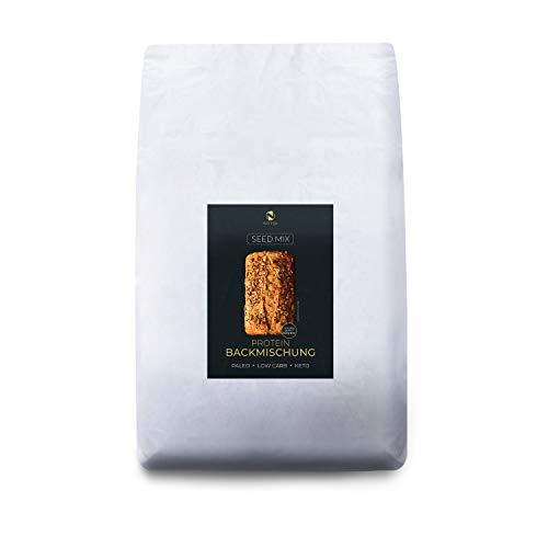 Seed Mix Eiweißbrot Backmischung 5kg - NEU! Prepper Bag | Nur 4g. Kohlenhydrate | Ohne Gluten | Ohne Getreide | Ohne Gluten | für Paleo, Keto, Low Carb sowie Muskelaufbau | auch für Diabetiker
