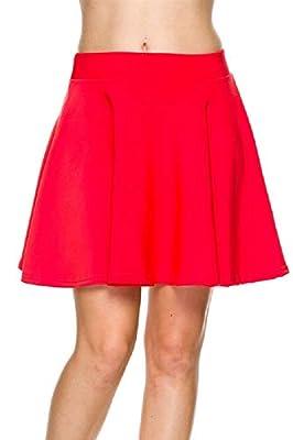 Kathy Scuba Skater Skirt with Flared Design