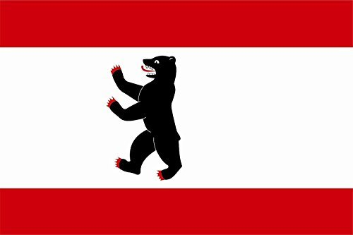 U24 Aufkleber Berlin Flagge Fahne 8 x 5 cm Autoaufkleber Sticker