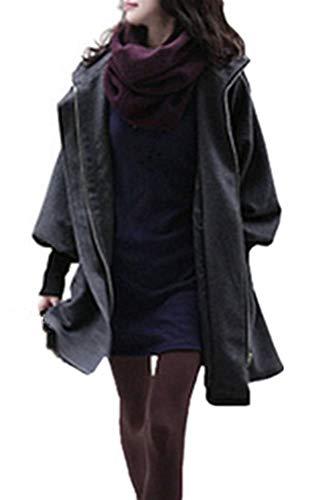Dames winter herfst jas gewatteerde jas met capuchon overgangsjas trenchcoat slank gewatteerde parka modieuze completi coat outwear met taille drawstring grijs oversize vintage klassieke winterjas