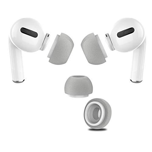 Almohadillas de espuma de memoria para auriculares in-ear, compatibles con AirPods Pro, para evitar caídas, 3 pares (encaja en el maletero)