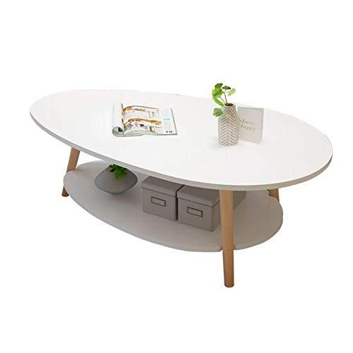 STARCLOCK Kreativer Mobiler Kaffee Kleiner Runder Tisch Beistelltisch Nordischer Doppelbalkon Kleiner Couchtisch, Modernes Wohnzimmer Einfacher Nachttisch, Weiß,Weiß