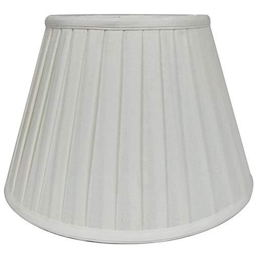 SAC d'épaule Königliche Design Ursprünglicher Plissee Designer Lampshade, weiß, Geeignet für E27 Schraube Tischlampen und Stehleuchten,40CM