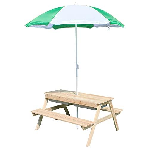 Coemo Kindersitzgruppe EDI mit Wasserbecken Sonnenschirm