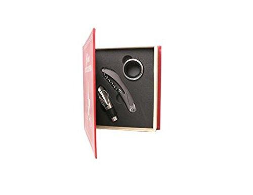 Kikkerland kleine wijnboekset, buikband (verpakking), wit, 14,8 x 4,1 x 16,5 cm