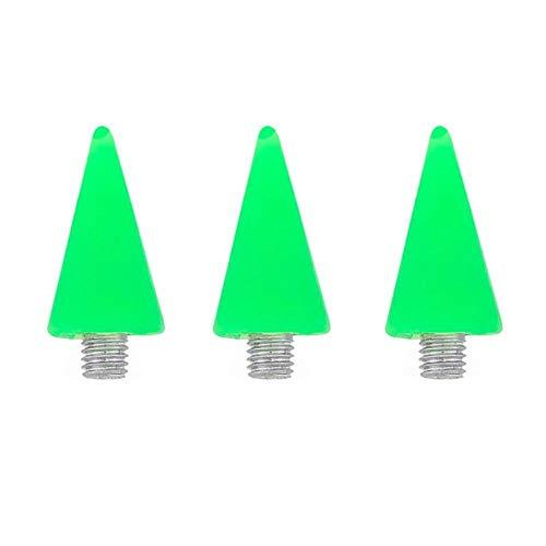 Coffrets De Forets 3 Pcs Acrylique Dotting Pen Astuce Manucure Pen Point Drill Pen Remplacement Tête Diy Nail Art Outils Nail Drill Accessoires-Vert