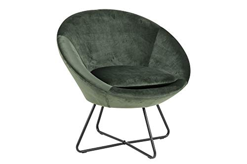 PKline Cenna Stoel, dennengroen, zwart, gestoffeerde stoel, woonkamer, clubfauteuil