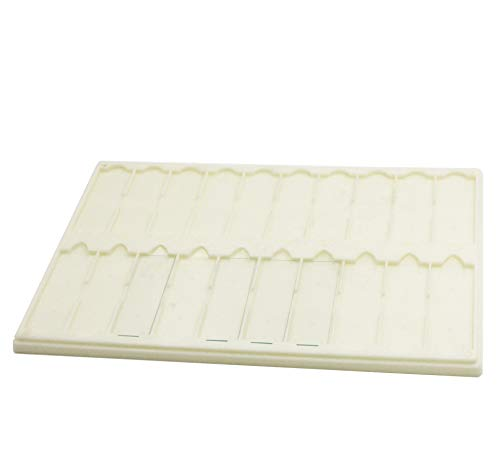 Plastic Microscope Slide Tray; 20 Capacity, One Pack (White)