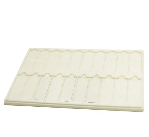 Plastic Microscope Slide Tray; 20 Capacity, One Pack (White)
