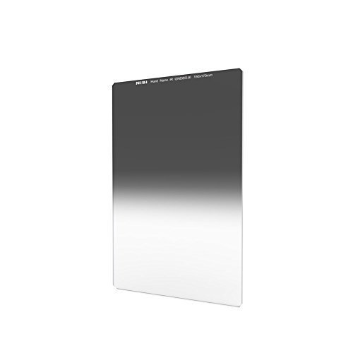 NiSi Glass 150X170mm Nano Multicoated Graduated IR Neutral Density 0.9 Hard Edge Filter (3-Stops)