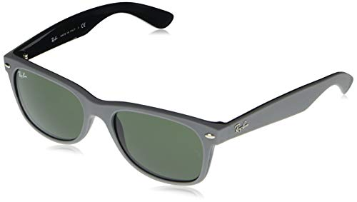 Ray-Ban Unisex xae New Wayfarer Color Mix Rb2132-646431-55 Lesebrille, Mate/Gris, 55