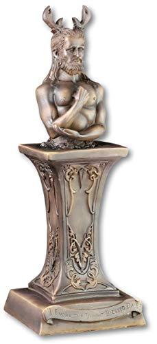 Cernunnos Figur - Büste Gehörnter Gott - Wicca Altarfigur Altar Magie