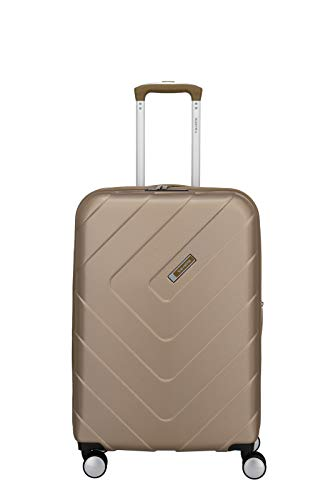 """Travelite Hartschalen-Koffer-Serie """"KALISTO"""" von travelite in 4 Farben: topmodisch, elegant, robust, 67 cm, 70L, Champagner"""
