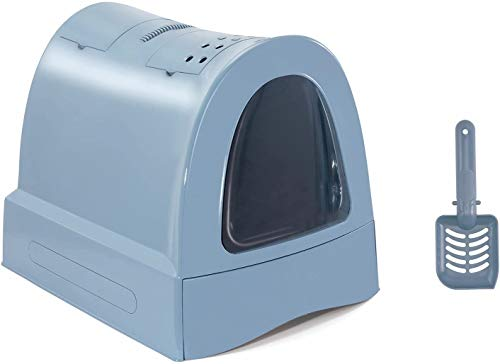 Imac - Vassoio igienico per lettiera per Gatti, 40 x 42,5 x 56 cm, Colore Blu
