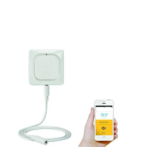 Honeywell Home Wi-Fi/ WLAN Wasser- und Frostmelder mit Kabelsensor, weiß, W1KS